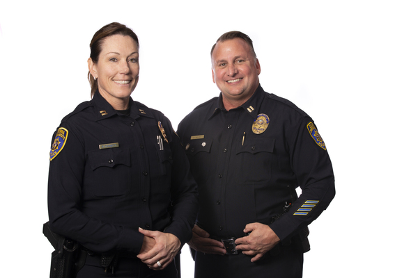 Photograph of captains Willey and Cleggett