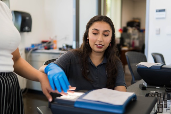 Photograph of Records Bureau Staff